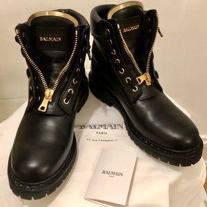 💯BALMAIN💯 TAIGA boots in Noir